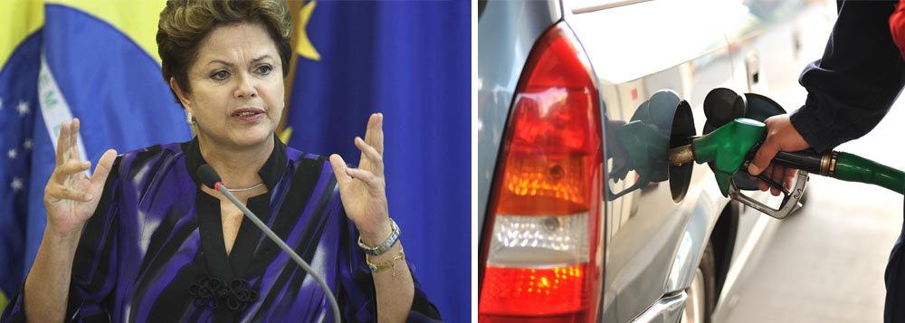 """Dilma: """"Eu não falo sobre aumento de gasolina"""""""