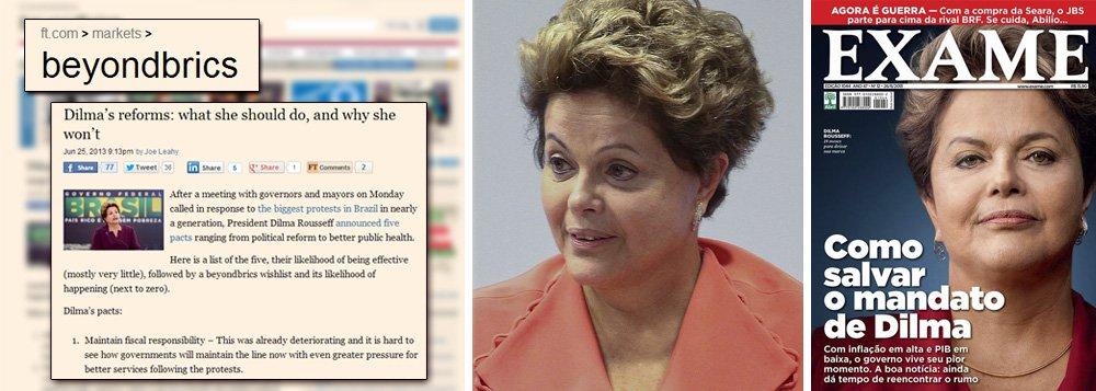 """Depois de Exame, FT também quer """"salvar"""" Dilma"""