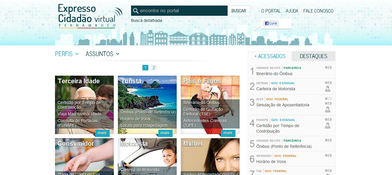 Serviços do Expresso Cidadão agora na Internet