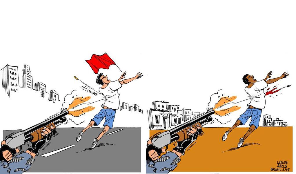 Latuff resume a violência policial no Brasil