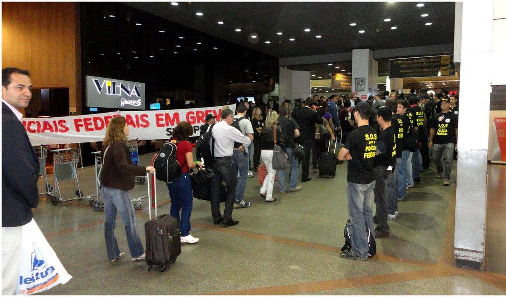 Greve da PF pode levar caos aos aeroportos