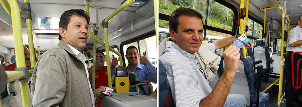 A pedido de Dilma, SP e Rio congelam tarifa de ônibus