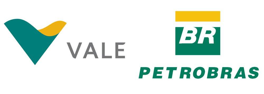 Vale e Petrobras dão o tom