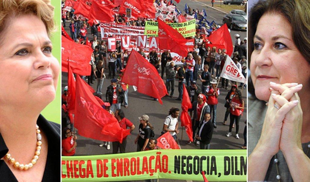 Dilma e Miriam definem reajustes para grevistas