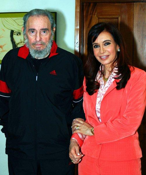 Cristina esteve com Chávez e Fidel em Cuba
