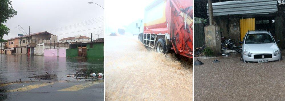 Chuvas trazem caos ao trânsito de BH
