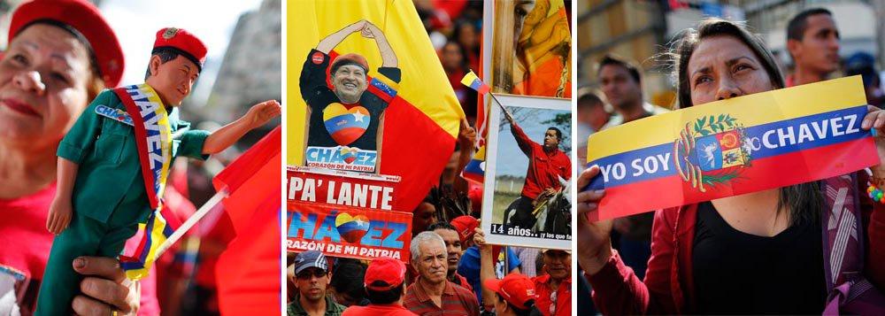 No dia da posse sem Chávez, povo toma Caracas