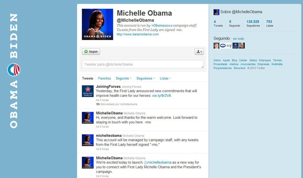 Primeira-dama dos EUA chega ao Twitter