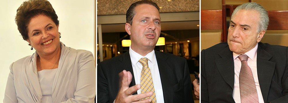 """Namoro"" entre Dilma e Campos preocupa PMDB"
