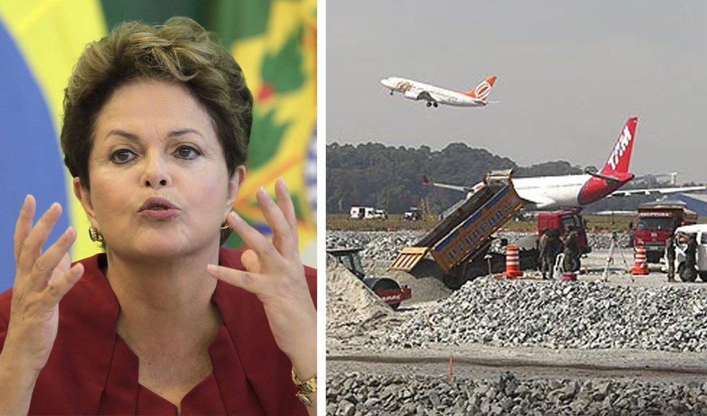 """Dilma: País precisa investir """"mais do que nunca"""" em aeroportos"""