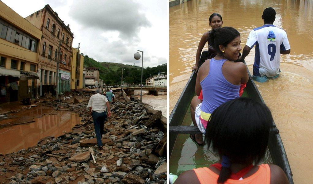 Enchentes em MG e RJ já tiram quase 30 mil de casa