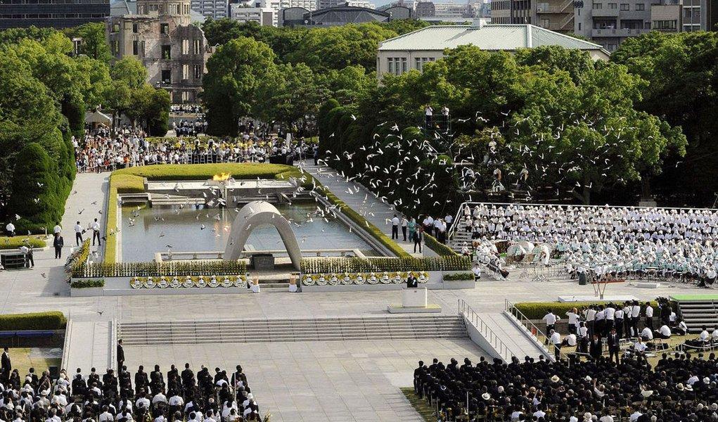 Japão lembra vítimas de Hiroshima