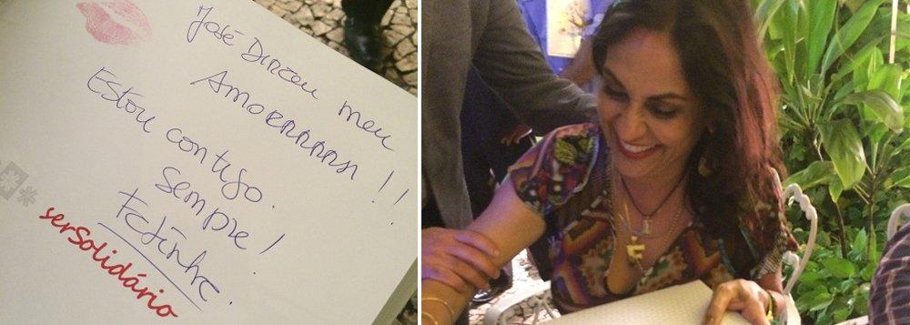 Primeira-dama da Bahia dá livro autografado a Dirceu
