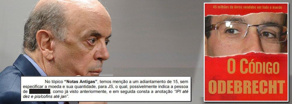 Tarja preta da PF em Serra no Código Odebrecht pode anular a prova