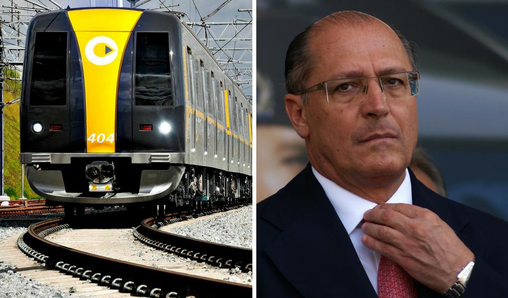 Linha 4 cobra R$ 500 mi de Alckmin por metrô atrasado