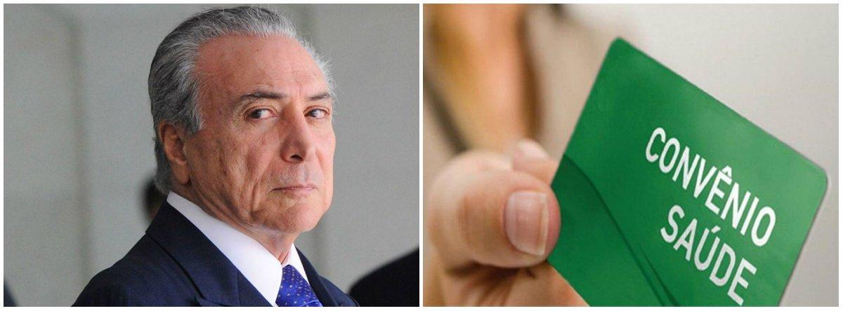 Depressão de Temer expulsa brasileiro dos planos de saúde e pressiona o SUS