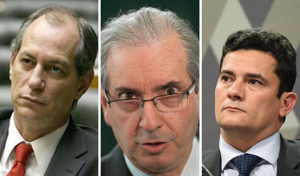 Ciro chama Moro de fascista por não mandar prender Cunha