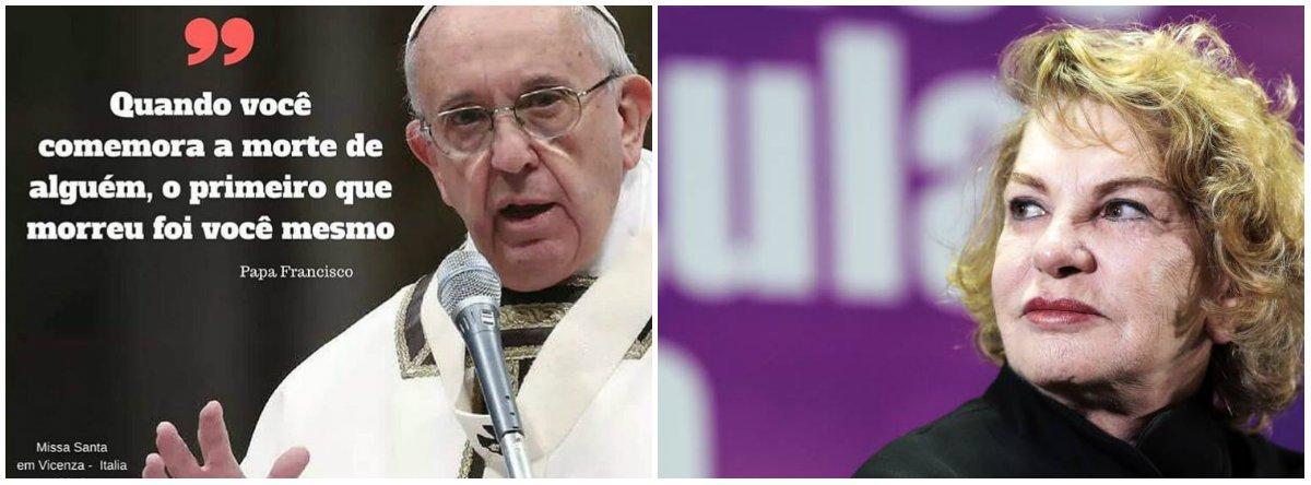A mensagem do papa Francisco a quem celebra a morte alheia