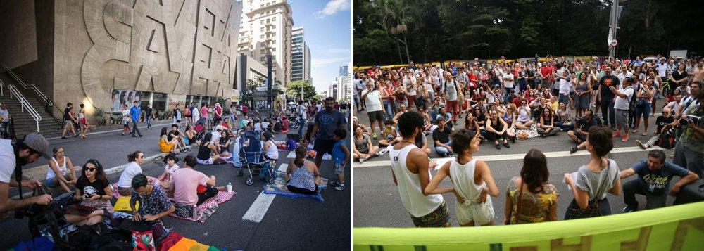 Av. Paulista é palco de ato em defesa da democracia
