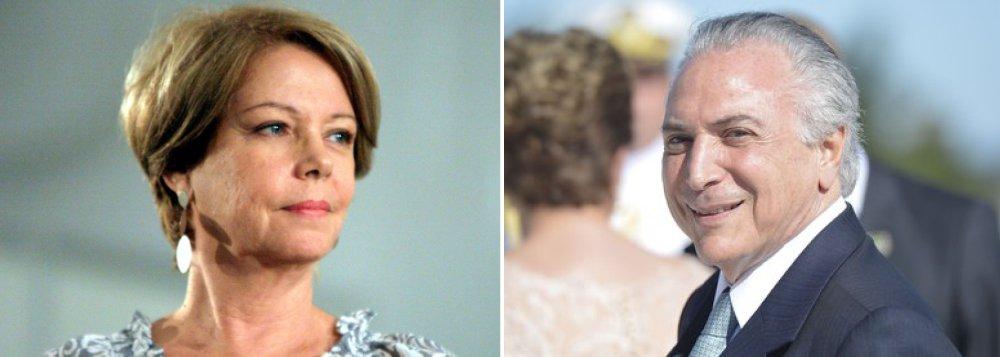 Eliane quer governo Temer com DNA tucano