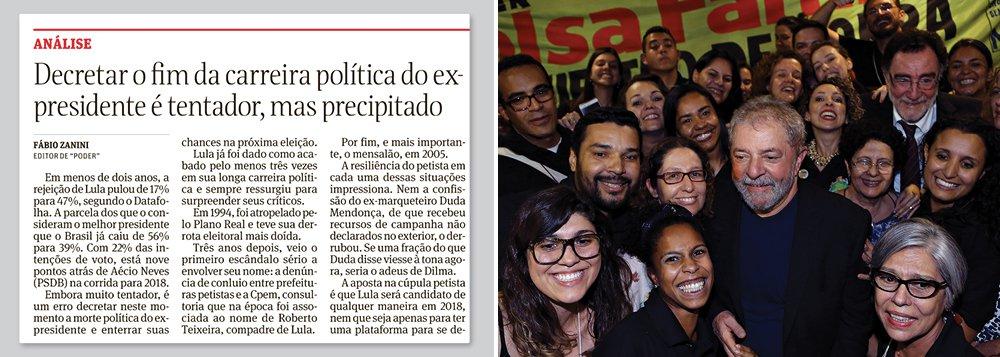 Folha descobre que ainda não matou Lula