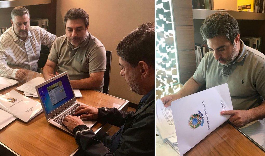 Pimenta e Damous visitam Tacla Duran, que denunciou máfia das delações
