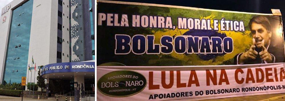 Ministério Público derruba outdoor em apoio a Bolsonaro em RO