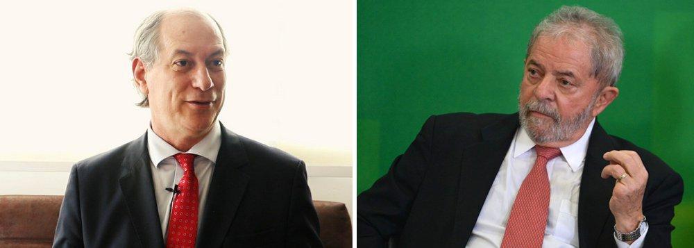 """Ciro: """"assisti com tristeza"""" a condenação de Lula"""