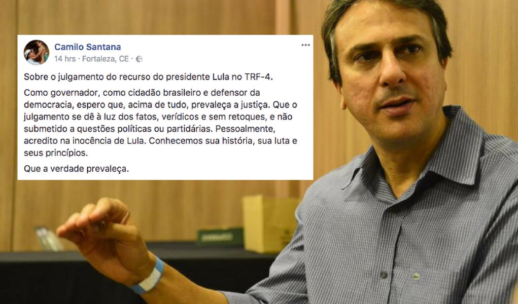 """Governador do Ceará apoia Lula: """"que a verdade prevaleça"""""""
