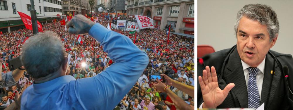 Prender Lula incendiaria o Brasil, diz Marco Aurélio