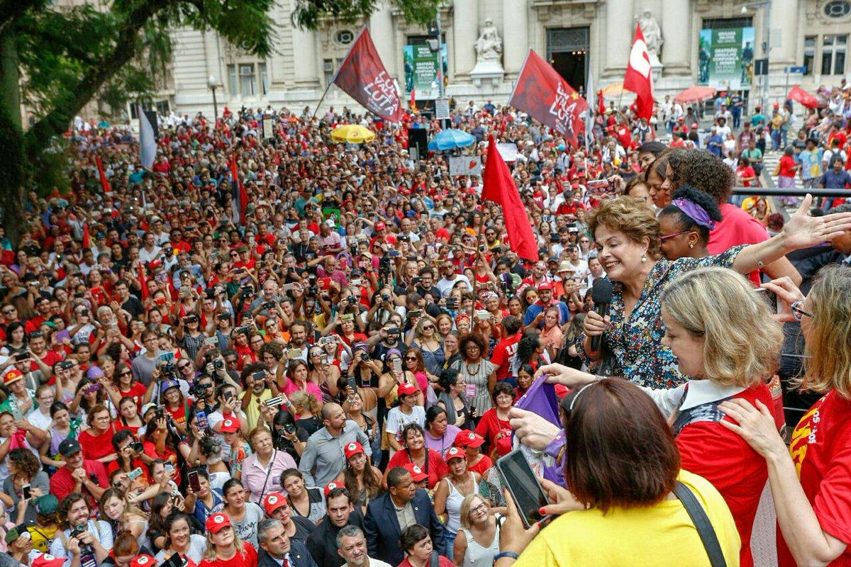 Dilma: mesmo quando nos golpeiam, como hoje, vamos lutar ainda mais