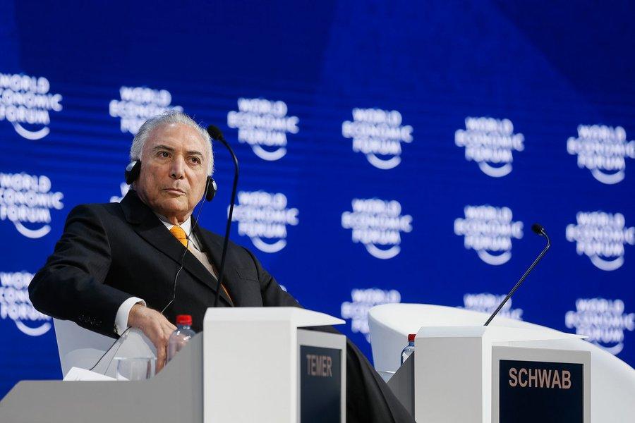 Em Davos, Temer fala para um auditório às moscas