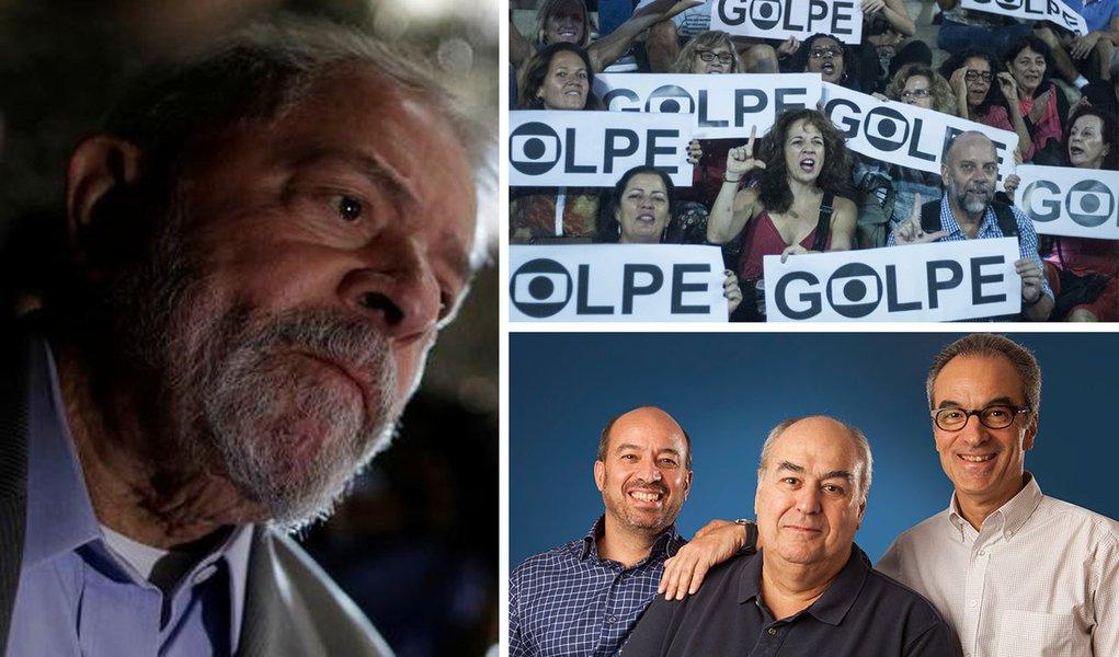 Globo comemora a prisão sem provas de seu inimigo: Lula