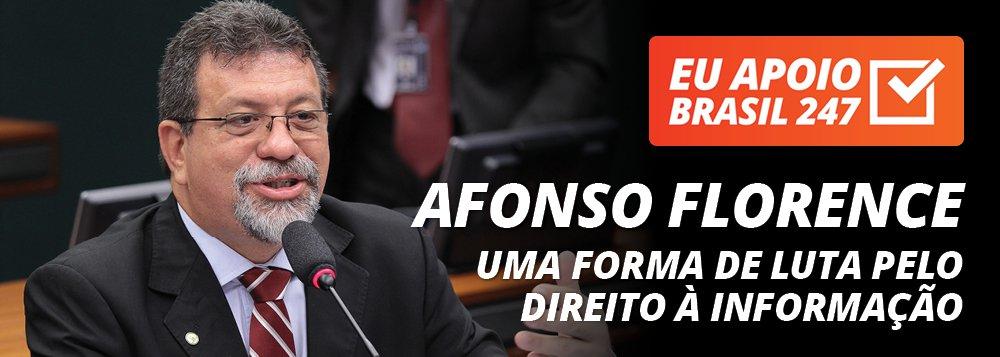 Afonso Florence apoia o 247: uma forma de luta pelo direito à informação