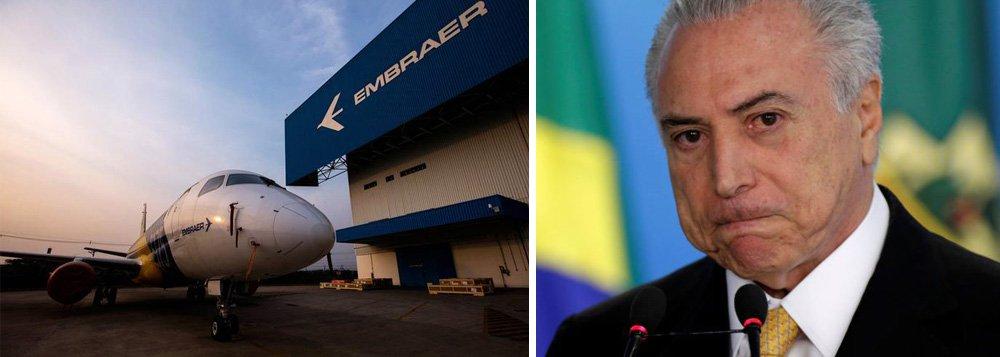 Boeing quer controlar 90% de empresa de aviação comercial da Embraer