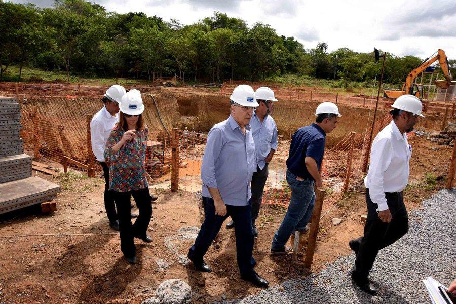Pimentel: obra captação de água do Rio Pacuí está 60% concluída