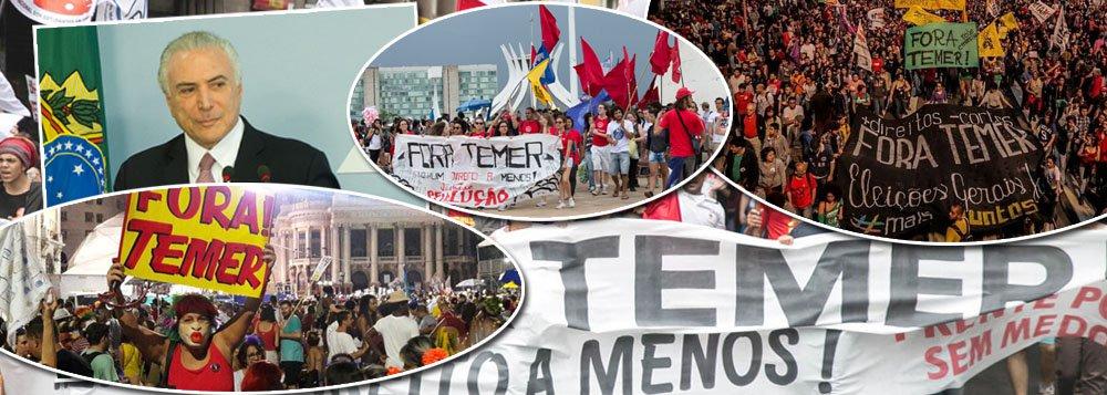 Rejeitado por mais de 90%, Temer nega que brasileiro queira sua saída