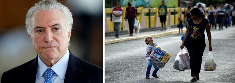 Temer vai a Boa Vista para tratar da migração de venezuelanos