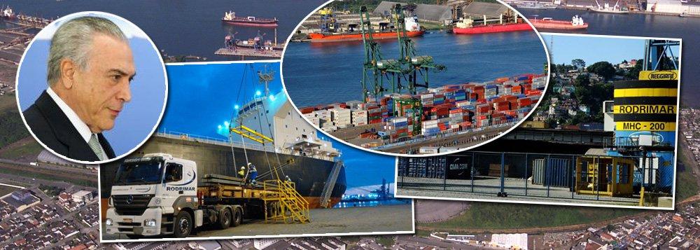 Inquérito sobre propina nos portos poupa sigilo bancário de Temer