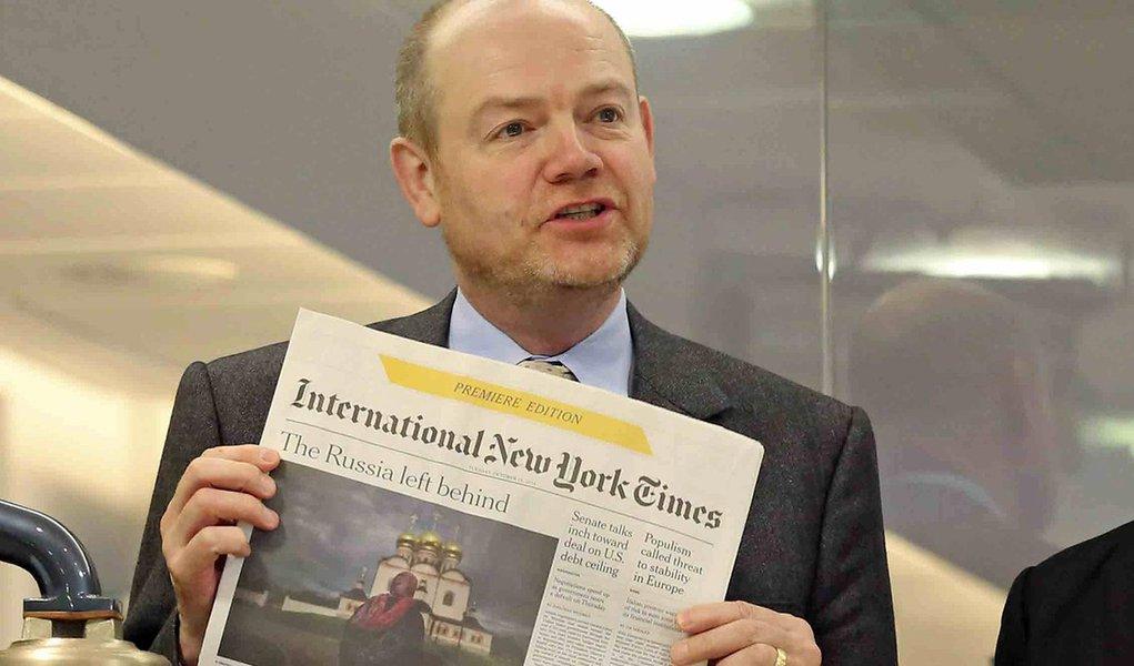 Presidente do NYT diz que edição impressa deve durar mais dez anos