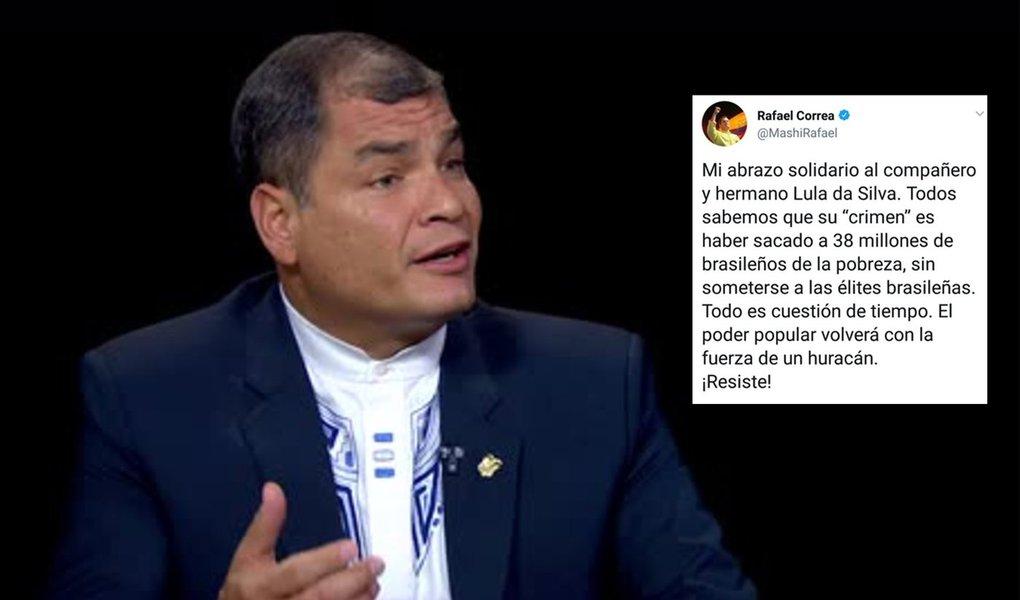 Rafael Correa: poder popular retornará com a força de um furacão