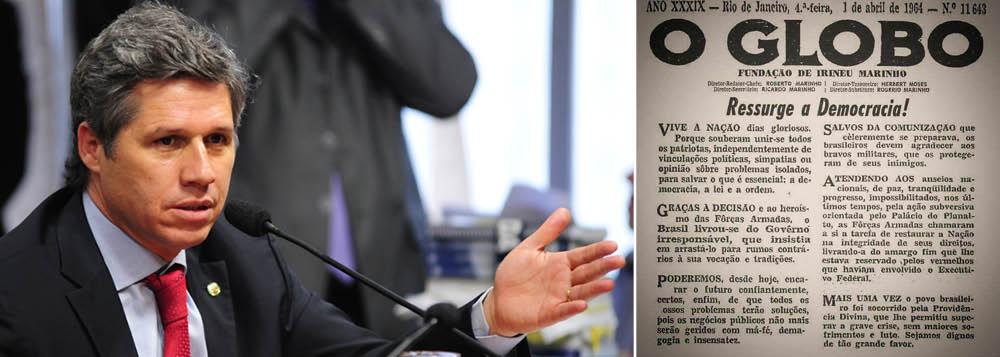 Paulo Teixeira relembra: em 1964, Globo dava boas-vindas à ditadura