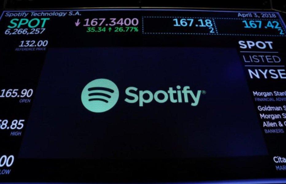 Estreia do Spotify na bolsa bate recorde e valor da empresa chega a US$ 30 bilhões