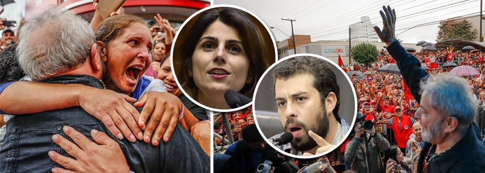 Boulos e Manuela se unem a Lula em frente antifascista