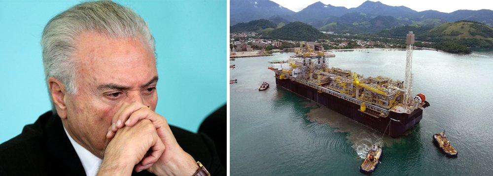Temer vende o equivalente a metade das reservas de petróleo da Petrobras