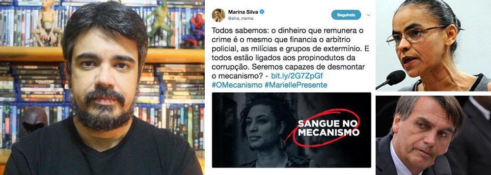 Villaça: Marina se tornou tão ruim quanto Bolsonaro