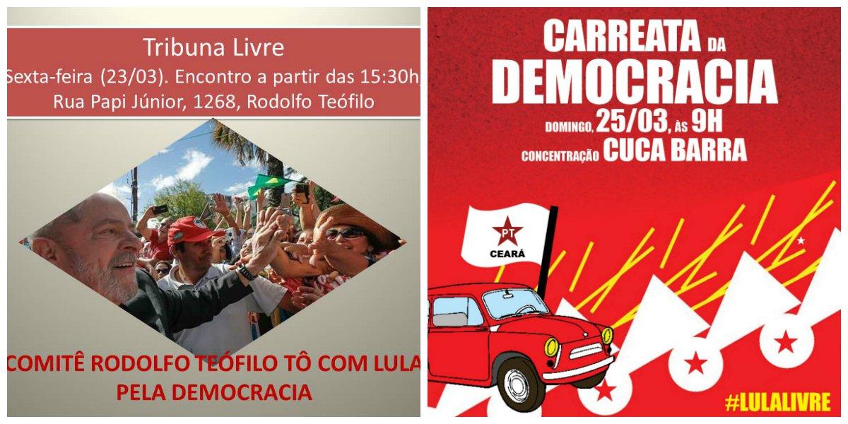 PT Ceará intensifica agenda de atividades em defesa de Lula