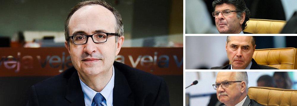 Reinaldo: Fux, Barroso e Fachin perseguem lula