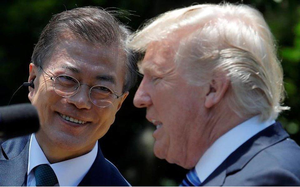 Reunião entre Coreias e Estados Unidos é possível, diz presidente da Coreia do Sul
