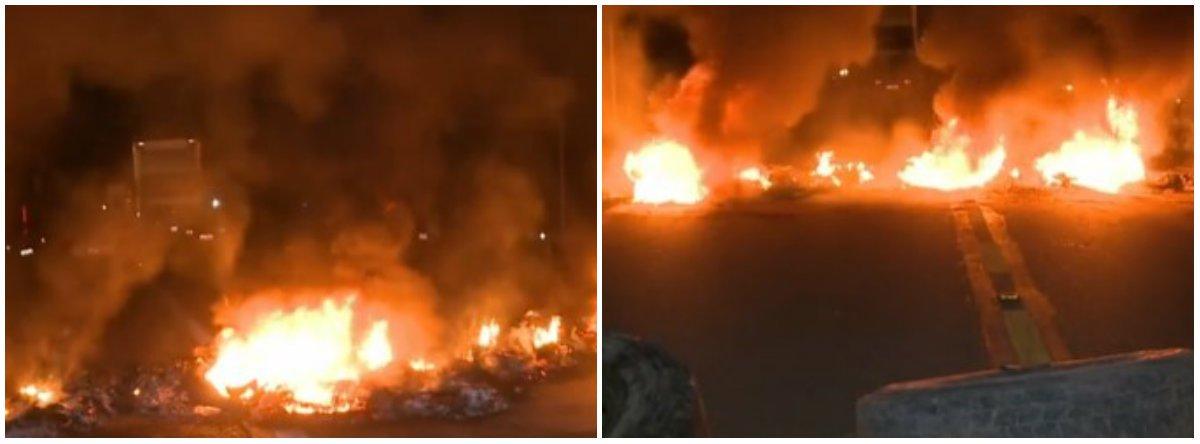 Manifestantes invadem abrigo e queimam pertences de venezuelanos em Roraima